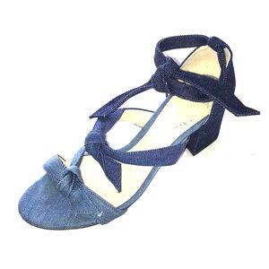 Alexandre Birman denim multi bow sandal